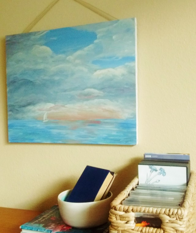 Sailboat on the Ocean Painting