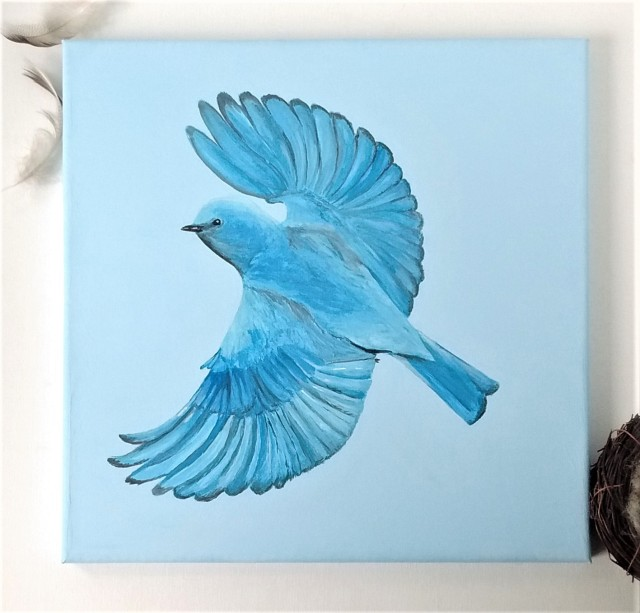 mountain bluebird art
