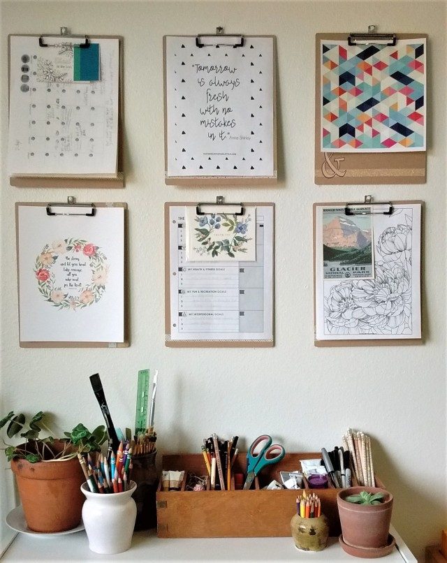 clipboard gallery wall