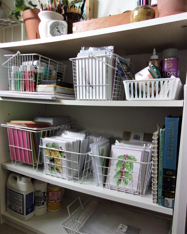 Art Supply Shelves