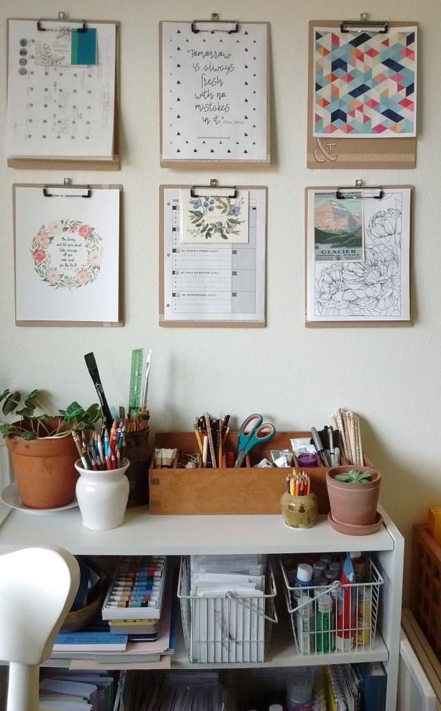 clipboard wall